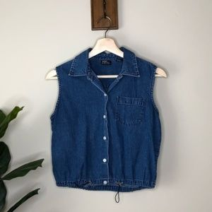 New York & Co vintage jean button up top